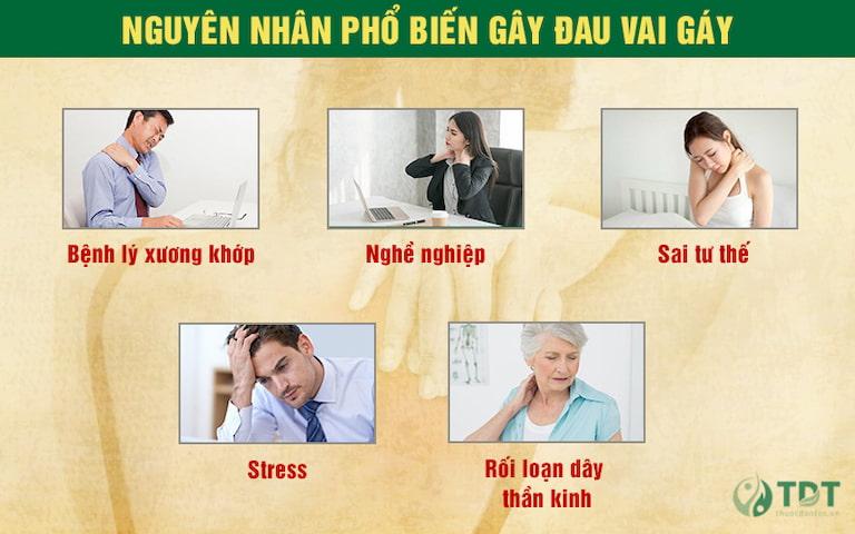 Một số nguyên nhân phổ biến gây đau vai gáy