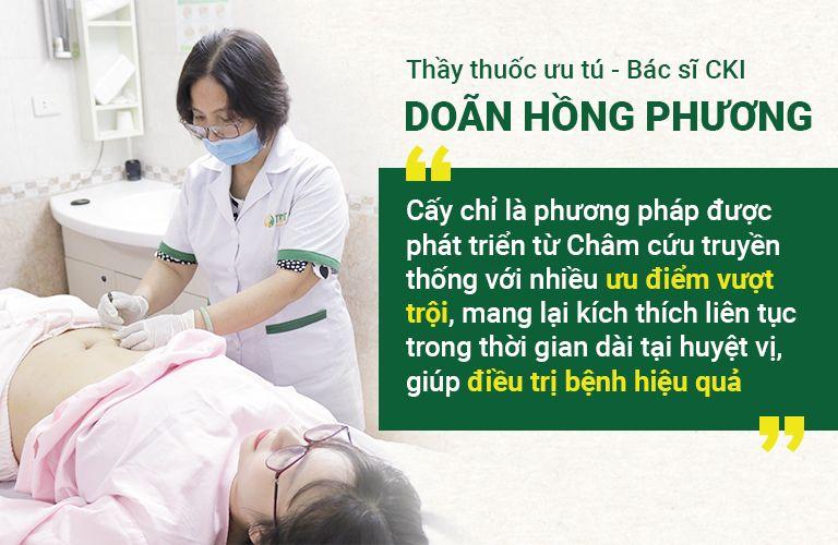 Bác sĩ Phương chia sẻ về phương pháp cấy chỉ
