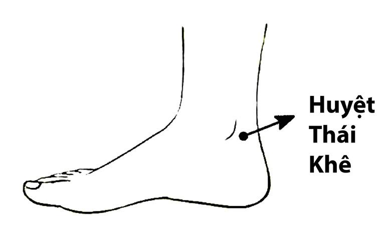 Bấm huyệt Thái khê giảm huyết áp
