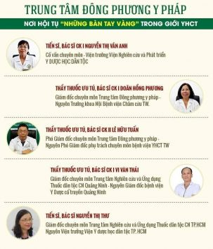 Các y bác sĩ tại trung tâm Đông phương Y pháp