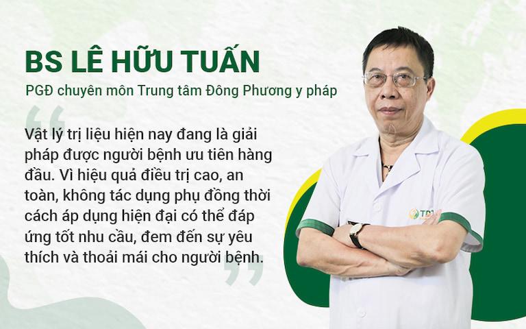 Chia sẻ của Bác sĩ Lê Hữu Tuấn - PGĐ Chuyên môn Trung tâm Đông phương Y pháp chia sẻ hiệu quả của Vật lý trị liệu