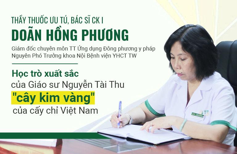 Bác sĩ Hồng Phương một trong những học trò xuất sắc của GS Tài Thu