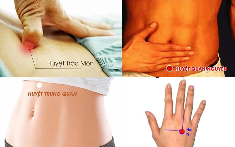 Các huyệt vị chữa đau bụng thông thường
