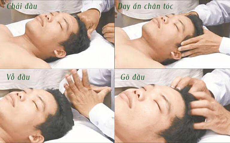 Các động tác xoa bóp giúp thúc đẩy tuần hoàn máu, giảm đau đầu, chóng mặt