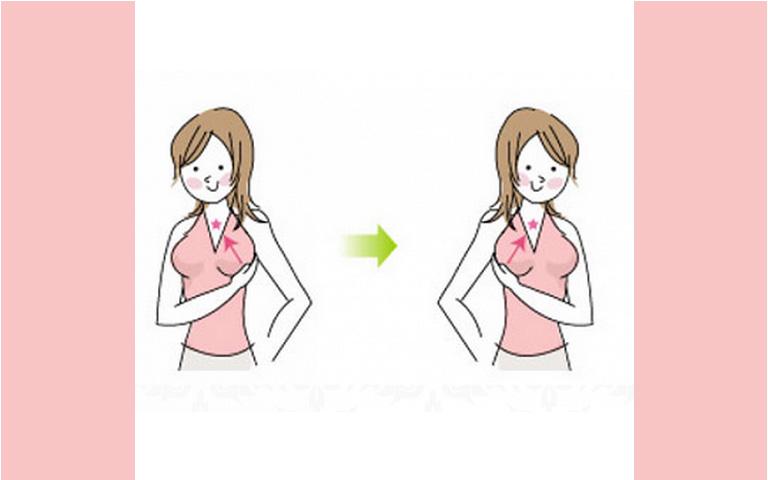 Động tác xoa bóp đẩy ngực lên