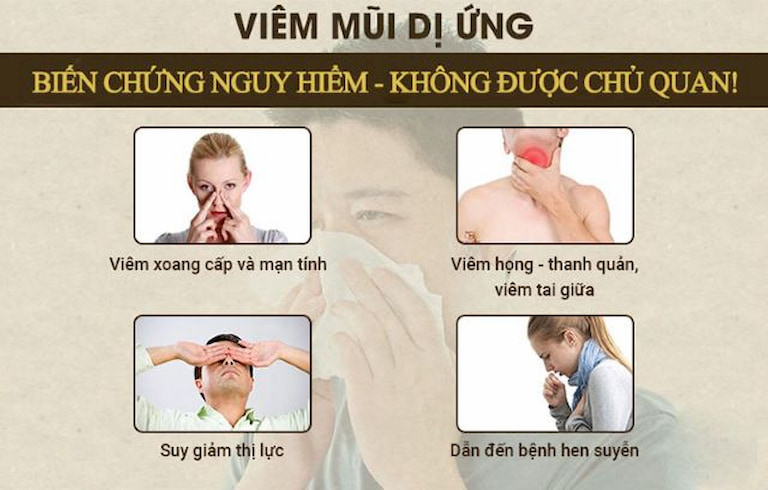 Một số biến chứng do viêm mũi dị ứng gây ra
