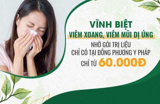 VĨNH BIỆT viêm xoang, viêm mũi dị ứng nhờ GÓI TRỊ LIỆU chỉ có tại Đông phương Y pháp