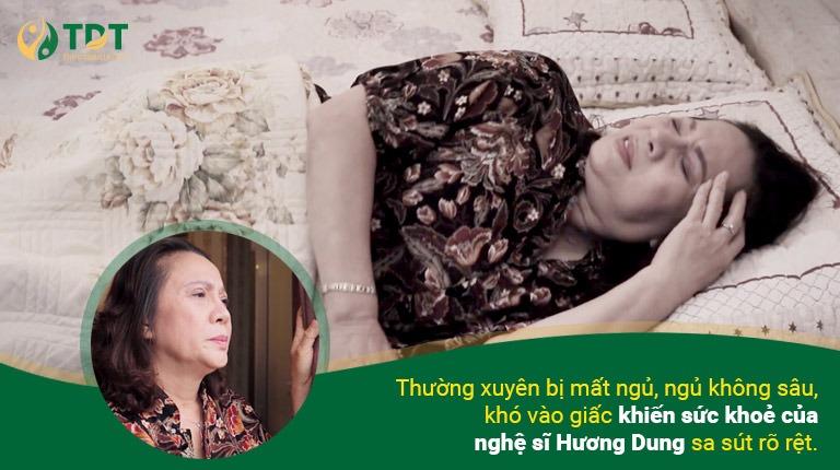 Căn bệnh mất ngủ đã vô hình trở thành nỗi ám ảnh tâm lý của NS Hương Dung trong thời gian dài