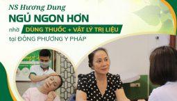Nghệ sĩ Hương Dung chữa mất ngủ tại Đông phương Y pháp