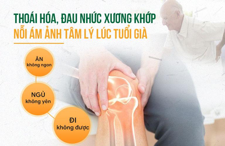 Đau nhức xương khớp thường là gánh nặng tâm lý của những người cao tuổi