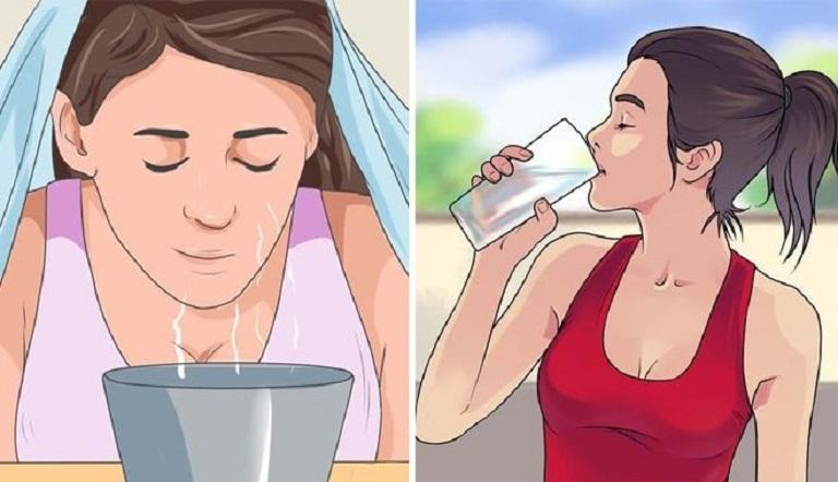 Sử dụng túi chườm đầu là cách hỗ trợ giảm đau nhanh chóng