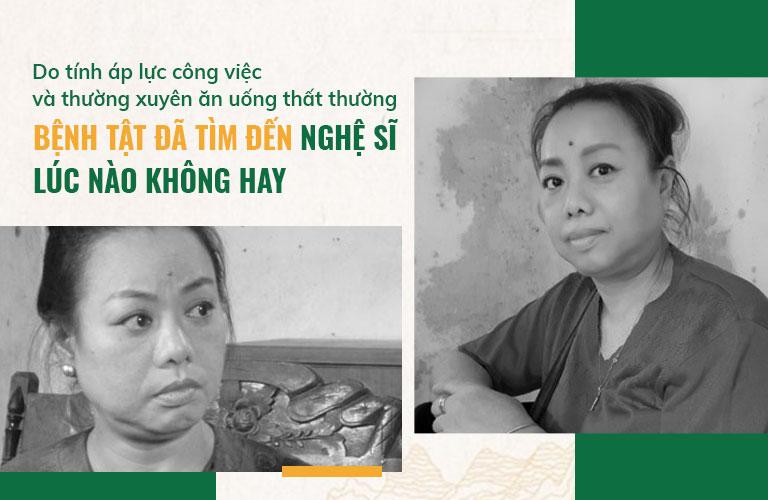 Nghệ sĩ Thu Hà cũng gặp phải không ít phiền phức khi bị bệnh