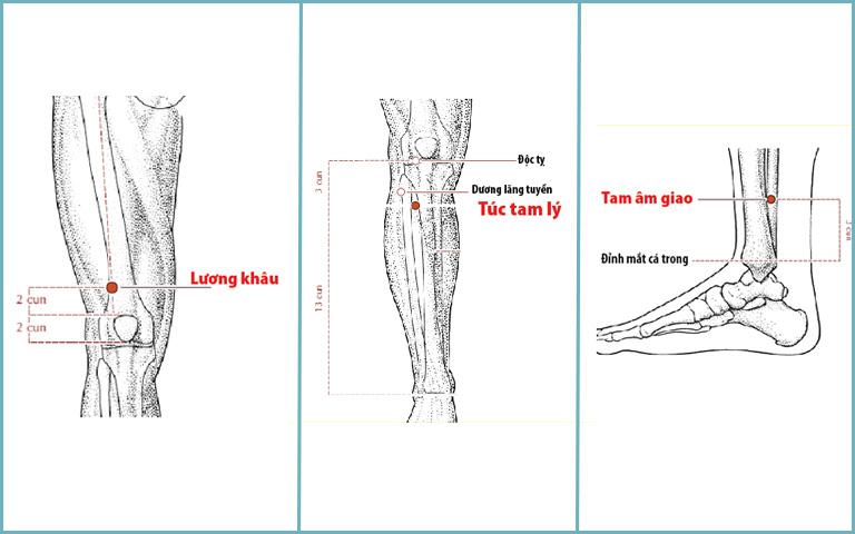 Các huyệt chân trị tai biến