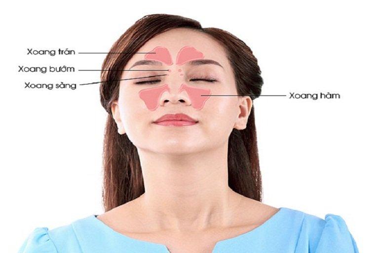 Vị trí bấm huyệt viêm xoang tại vùng mũi