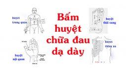 Các huyệt bổ trợ trị đau dạ dày