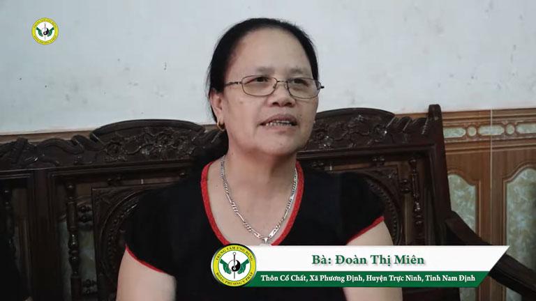 Cô Đoàn Thị Miên phục hồi sau 2 lần tai biến thập tử nhất sinh
