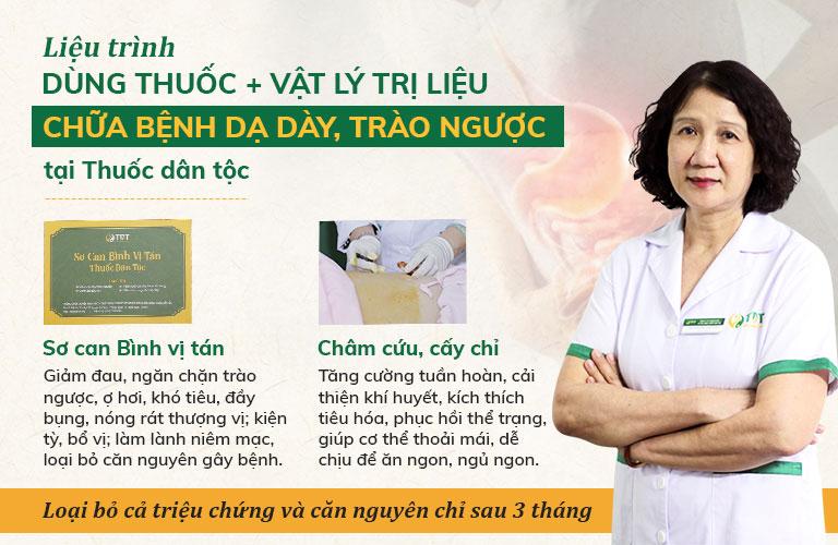 Liệu trình dùng thuốc kết hợp châm cứu Đông phương Y pháp chữa bệnh dạ dày tại Thuốc dân tộc