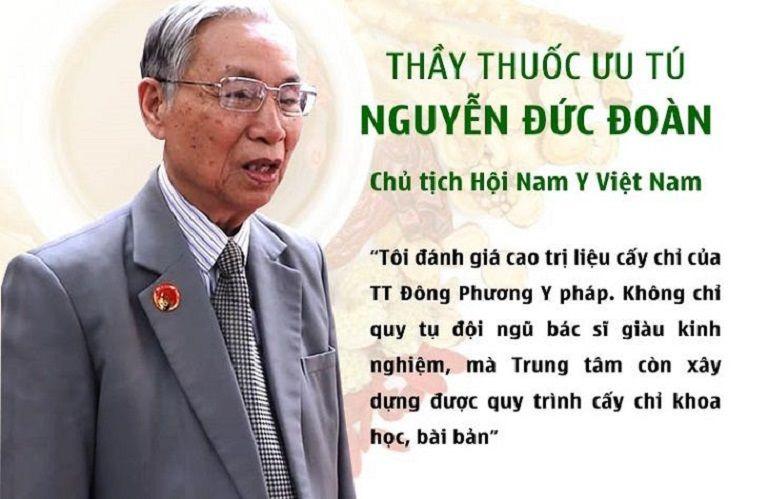 Thầy thuốc ưu tú Nguyễn Đức Đoan chia sẻ thêm về phương pháp cấy chỉ ĐPYP