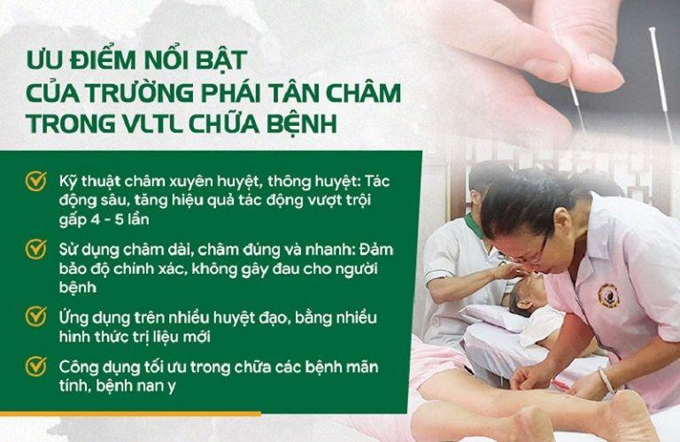 Liệu trình Vật lý trị liệu chuyên biệt tại Đông phương Y pháp được ứng dụng theo trường phái Tân Châm