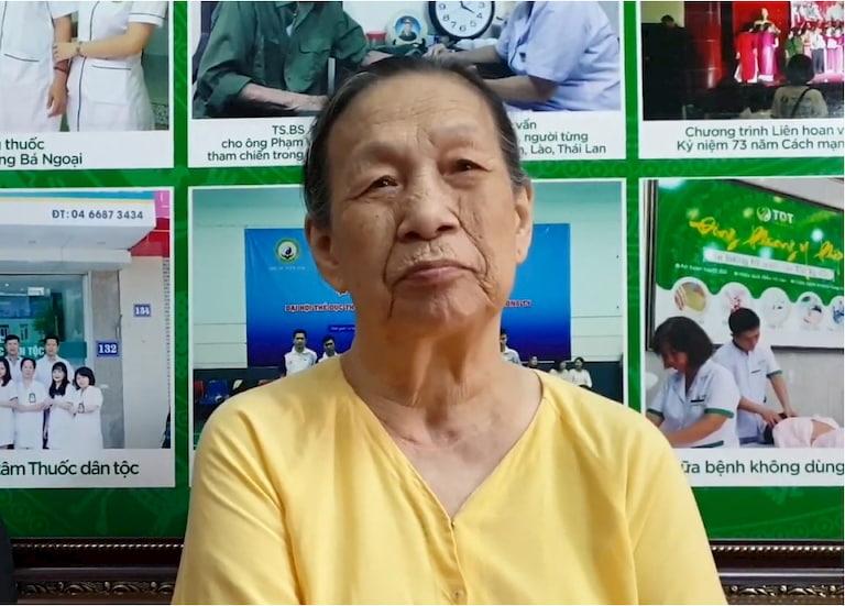 Bà Trần Thị Nhài, 84 tuổi, thường trú tại Hà Nội