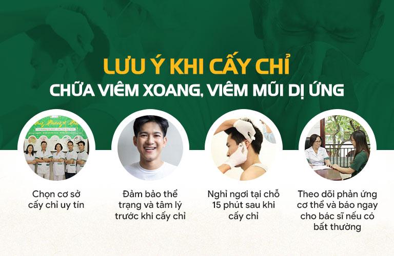 Những lưu ý quan trọng khi cấy chỉ chữa viêm xoang, viêm mũi dị ứng