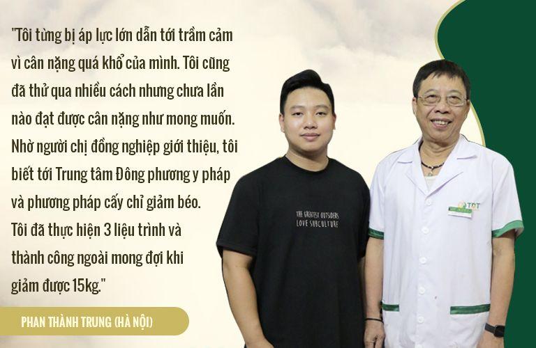 BN Thành Trung chia sẻ về hành trình cấy chỉ giảm béo tại Đông phương Y pháp