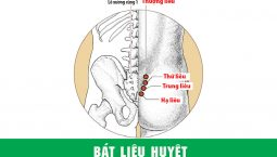Bát Liêu huyệt nằm tại vị trí 8 lỗ xương cùng