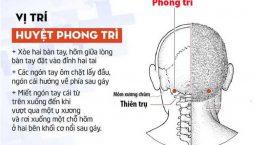 Cách xác định huyệt Phong Trì