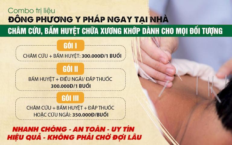 Chi tiết gói trị liệu Đông phương Y pháp châm cứu bấm huyệt tại nhà
