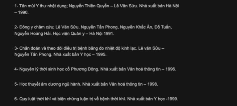 Đầu sách y học nổi tiếng của Lê Văn Sửu