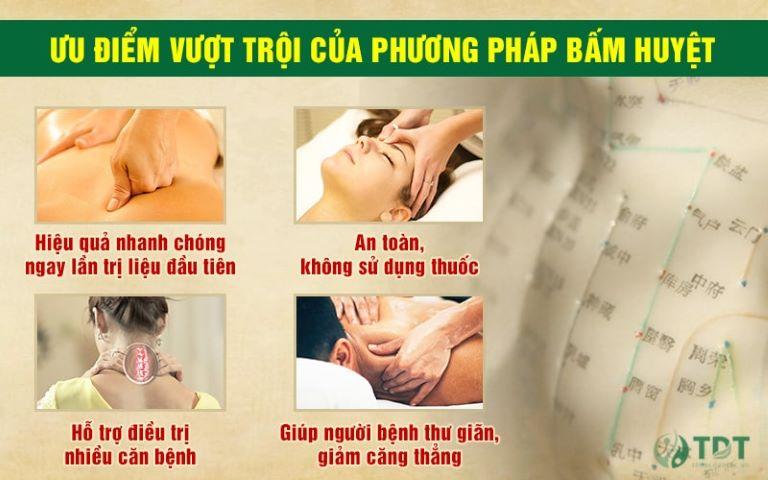 Bấm huyệt là phương pháp PHCN hiệu quả, an toàn và ít gây tác dụng phụ