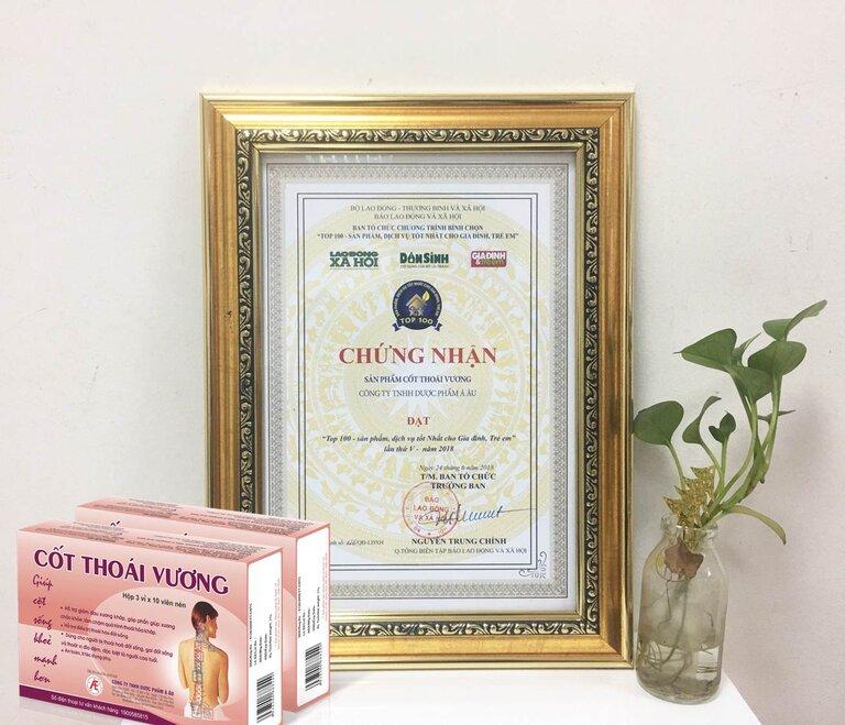 Sản phẩm đã nhận được nhiều giải thưởng danh giá