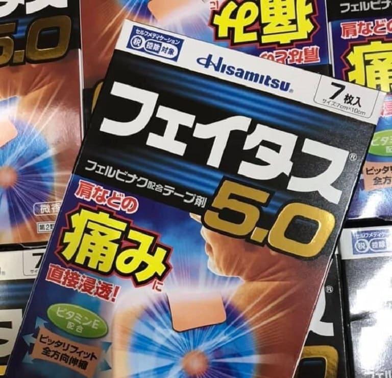 Miếng dán giảm đau nhức Hisamitsu 5.0 của Nhật Bản