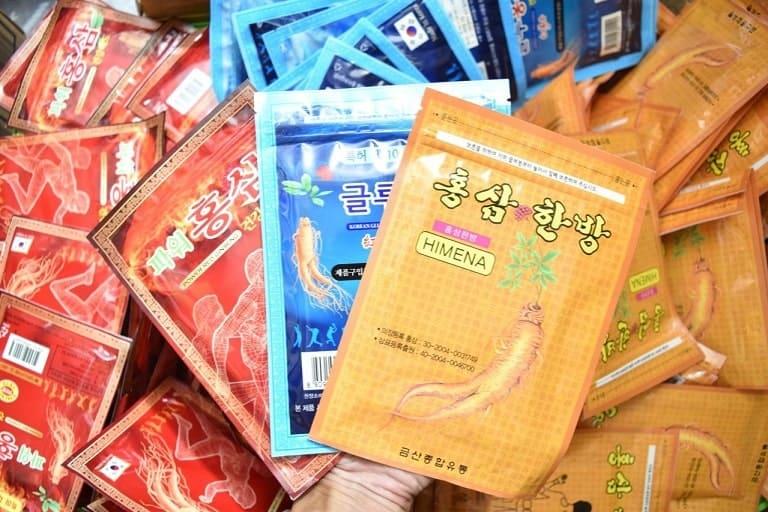 Miếng dán hồng sâm Hàn Quốc giảm nhức mỏi