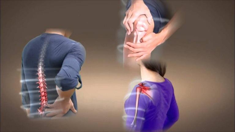 Đau nhức xương khớp gây khó chịu cho người bệnh