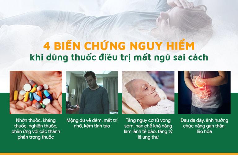 Biến chứng nguy hiểm khi người bệnh lạm dụng thuốc an thần, thuốc ngủ