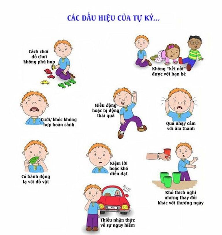 Một số dấu hiệu phổ biến của trẻ tự kỷ