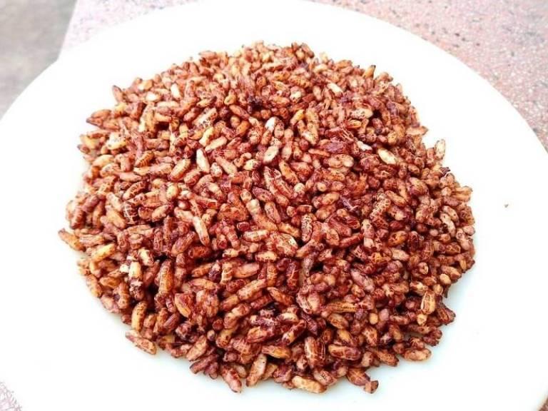 Cốm gạo lứt món ăn quen thuộc và ưa thích của mọi lứa tuổi