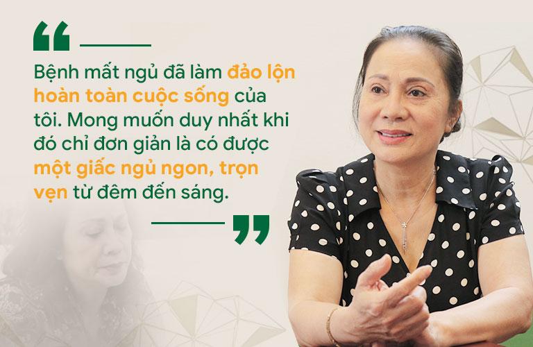 Nghệ sĩ Hương Dung cũng có những ám ảnh vì mất ngủ kinh niên