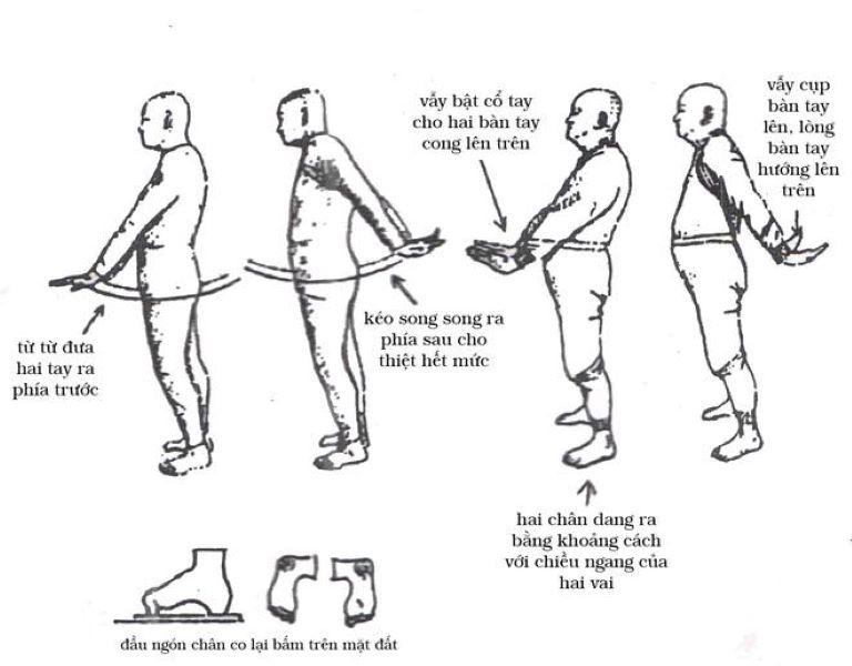 Bài tập vẫy tay cải thiện tê bì chân tay khó ngủ