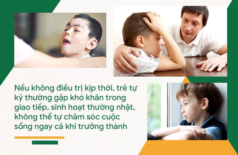 Trẻ bị tự kỷ sẽ gặp phải rất nhiều cản trở trong cuộc sống