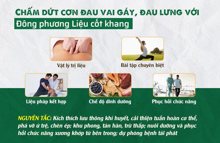 Đông phương Liệu cốt khang chữa đau cổ vai gáy, đau lưng