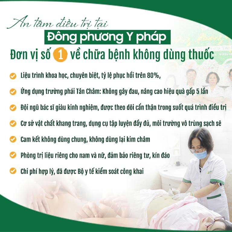 Một số ưu điểm điều trị tại Trung tâm Đông phương Y pháp