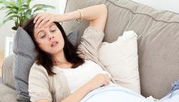 Đau đầu là tình trạng bệnh phổ biến ở bà bầu