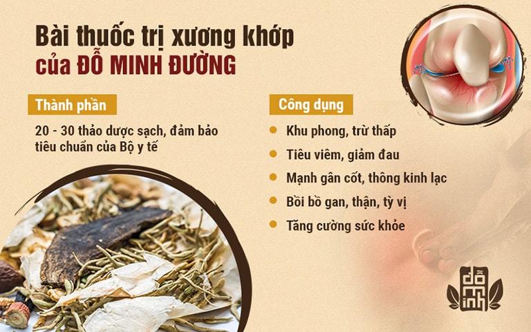 Bài thuốc trị xương khớp thần thánh của nhà thuốc Đỗ Minh Đường
