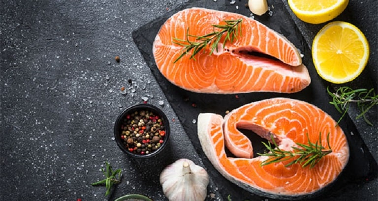 Ăn nhiều cá hồi để bổ sung omega 3 tốt