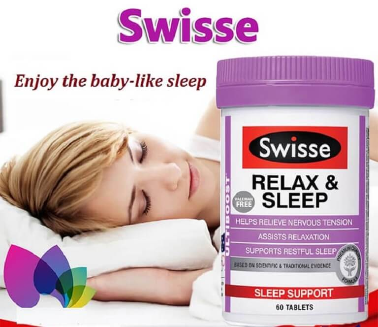 Swisse Sleep - Thực phẩm chức năng cải thiện chứng mất ngủ