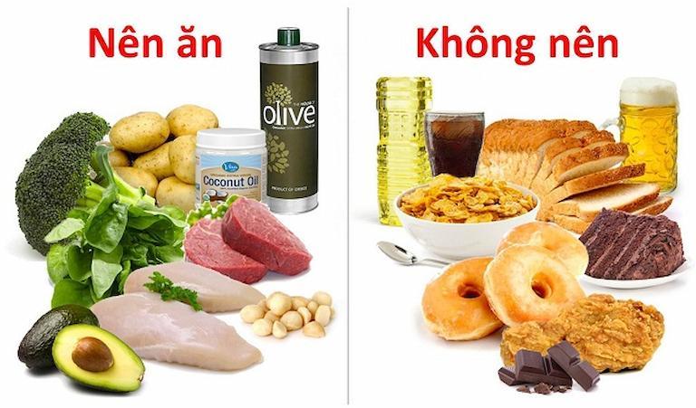 Thực phẩm nên ăn và không nên ăn khi giảm béo bụng