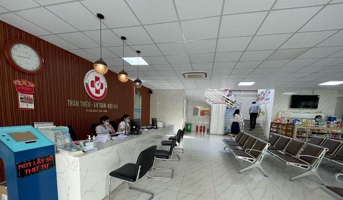 Sảnh chờ của Phòng khám Đa khoa Đức Minh