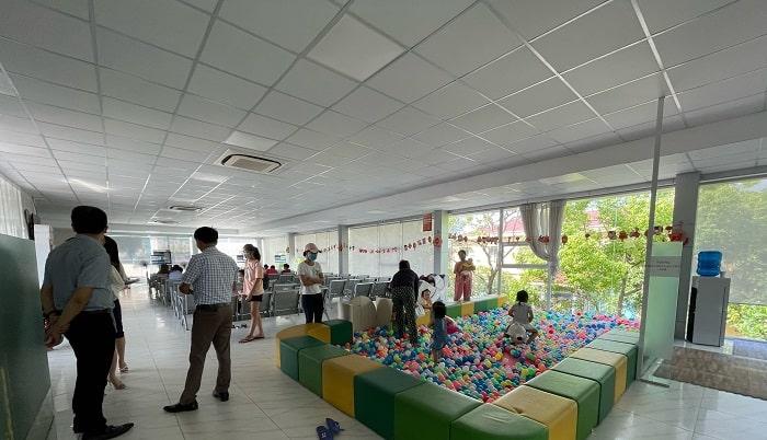 Khu vui chơi cho trẻ tại Phòng khám Đa khoa Đức Minh – Hải Dương